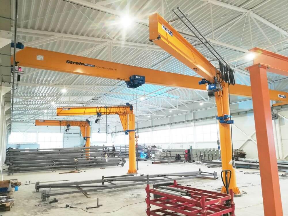 Jib cranes, overhead cranes project_Strele industrial